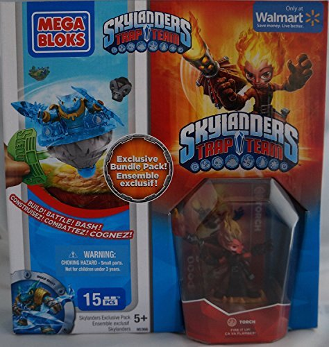 Mega Bloks Skylanders Trap Team Hero Packs Torch Exclusive Bundle Pack Set by Skylanders Giants