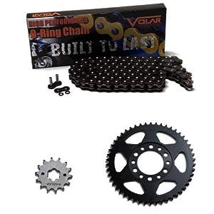2001 Yamaha TW200 / TW200C Trailway TW 200 Chain and Sprocket Kit - Black