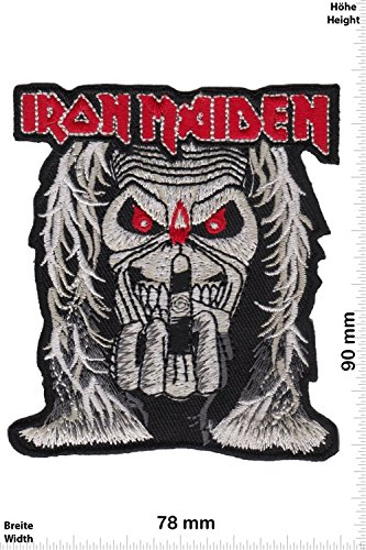 Patch - IRON MAIDEN - 8,5 cm - HQ - MusicPatch - Rock - Chaleco - toppa - applicazione - Ricamato termo-adesivo - Give Away