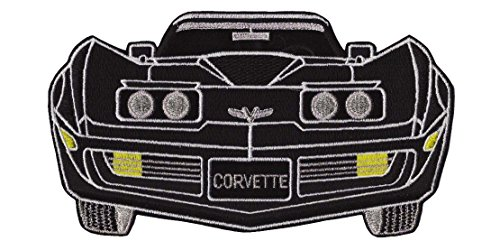 Chevrolet Chevy Corvette Patch Red or Black Car Embroidered Iron on Large 9