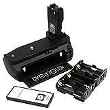 DSTE BG-E7 Replacement Battery Grip For Canon EOS 7D Camera + Wireless Remote Control as BG-E7