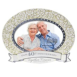 Enesco This is The Day by Gregg Gift for Enesco Frame (Anniversay 40 Years), 6.97\