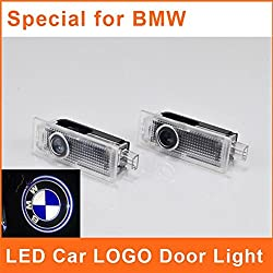 See HAMIST LED Car Light BMW Logo Door Emblem Special Projector Courtesy Welcome Emblems Laser BMW GT X3 X5 X6 Auto Ghost Shadow Pack of 2 Details