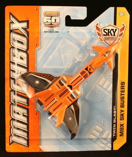 TWIN BLAST * MATCHBOX 60TH ANNIVERSARY * Die-Cast 2013 MBX Sky Busters Series Airplane - 1