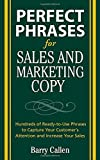 img - for Perfect Phrases for Sales and Marketing Copy (Perfect Phrases Series) book / textbook / text book