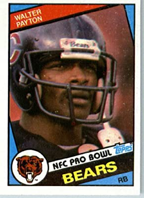 1984 Topps # 228 Walter Payton Chicago Bears Football Card - Shipped In Protective Screwdown Display Case!