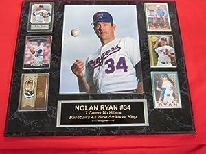 Nolan Ryan Texas Rangers 6 Card Collector Plaque w/8x10 Photo