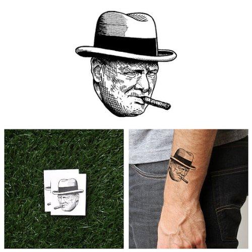 tattify-winston-churchill-temporary-tattoo-through-hell-set-of-2