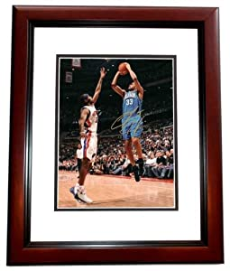 Grant Hill Autographed Hand Signed Orlando Magic 8x10 Photo MAHOGANY CUSTOM FRAME by Real Deal Memorabilia