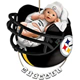 NFL Pittsburgh Steelers Personalized Baby's First Christmas Ornament by The Bradford Exchange