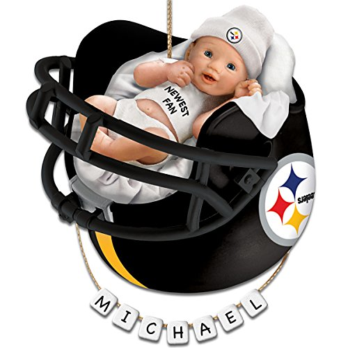 Pittsburgh Steelers Personalized Baby's First Christmas Ornament by The Bradford Exchange