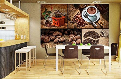 papier peint photo sur le caf collage coffee motif mural caf sur papier peint photo image. Black Bedroom Furniture Sets. Home Design Ideas