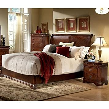 Homelegance Greenfield 2 Piece Sleigh Bedroom Set in Cherry