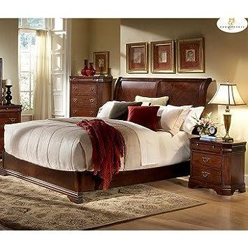Homelegance Greenfield 2 Piece Sleigh Bedroom Set in Cherry