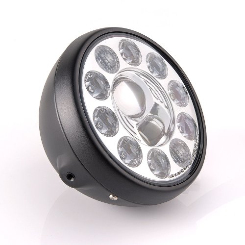 "Sirius 7"" Led Headlamp Motorcycle Headlight High Low Beam Black Housing W/ Position Lamp X 1Pce"
