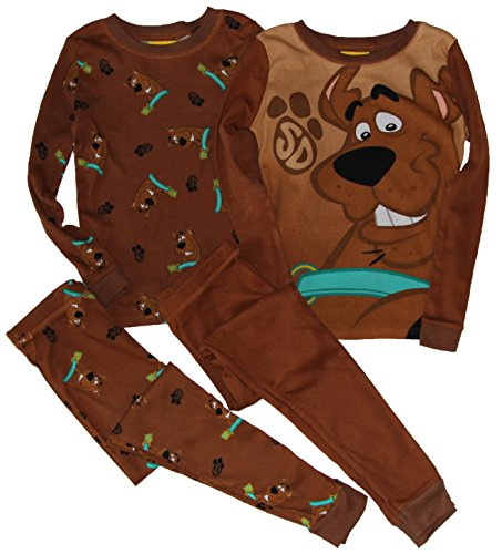 Scooby-Doo 4 Piece Mix/Match Long Sleeve Cotton Pajamas For Boys, Size 6 front-590402