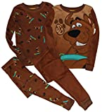 Scooby-Doo 4 Piece mix/match long sleeve cotton pajamas for boys, sizes 4-10