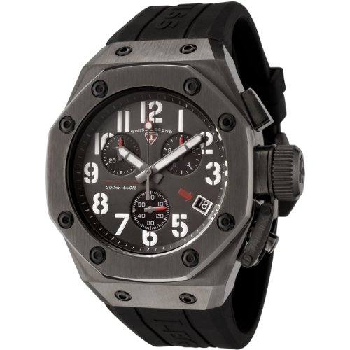 Swiss Legend Men's 10541GM014 Trimix Diver Collection Chronograph Black Rubber Watch