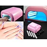 eLifeStore� UV NAIL DRYER FOR DRYING NAIL VANISH POLISH NAIL ART | 220V 36W UV LAMP LIGHT + 4 X 9W BULBS - PINKby SAVFY