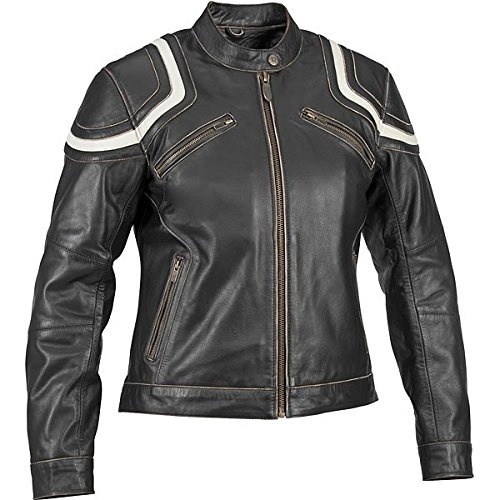 River Road Babe Womens Leather Jacket , Distinct Name: Black, Gender: Womens, Apparel Material: Leather, Primary Color: Black, Size: 2XL XF-09-3225
