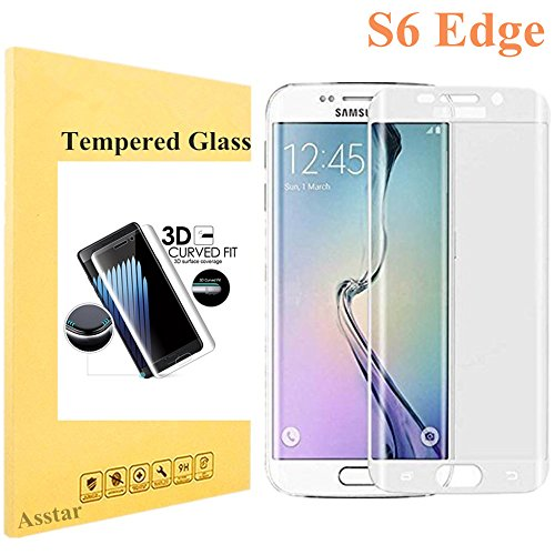 Galaxy S6 Edge Screen Protector [Full Coverage], Tempered Glass 9H 0.2mm Thinest Protection Armor Guard Shatterproof Fingerprint-free Bubble free Film for Samsung Galaxy S6 Edge (Silver) (Gorilla Box Fan compare prices)