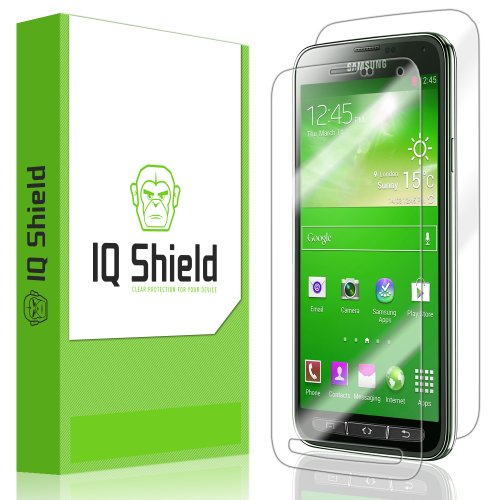 Iq Shield Liquidskin - Samsung Galaxy S5 Active Screen Protector + Full Body (Front And Back) - High Definition (Hd) Ultra Clear Smart Film - Premium Protective Screen Guard - Extremely Smooth / Self-Healing / Bubble-Free Shield - Kit Comes With Retail Pa front-649327