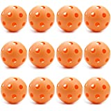 12 Orange Poly Baseballs (Regulation Size) by Crown Sporting Goods