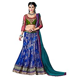 Trendz Apparels Blue Soft Net Lehengha