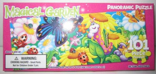 101 Piece Panoramic Puzzle - Magical Garden