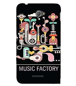 PrintVisa Cute Music Design 3D Hard Polycarbonate Designer Back Case Cover for Sony Xperia E4 Dual