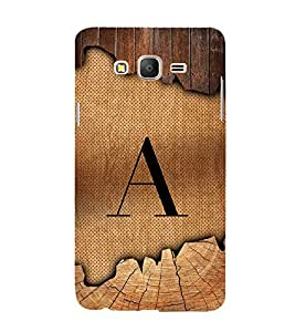 Initial A Wooden Texture 3D Hard Polycarbonate Designer Back Case Cover for Samsung Galaxy On5 :: Samsung Galaxy On 5 G550FY