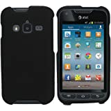 CoverON® Matte Snap-On BLACK RUBBERIZED Hard Case Cover For SAMSUNG I547 GALAXY RUGBY PRO ATT With PRY-Triangle Case Removal Tool [WCG578]