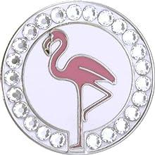 Bella Crystal Hat Clip Set Flamingo White