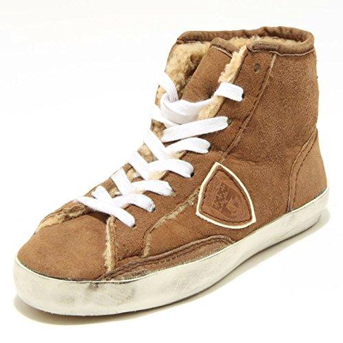 3038G sneaker donna nocciola PHILIPPE MODEL scarpa shoes women [39]