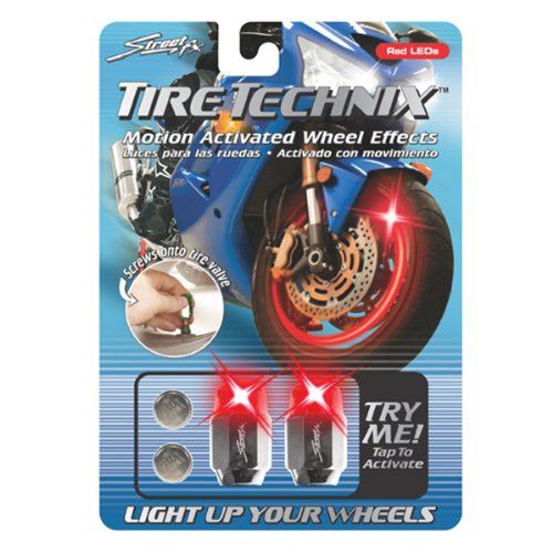 Street FX 1042197 Tire Technix Moto Hex Red Light - 1