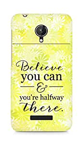 AMEZ believe you can and you are there halfway Back Cover For Micromax Canvas Spark Q380