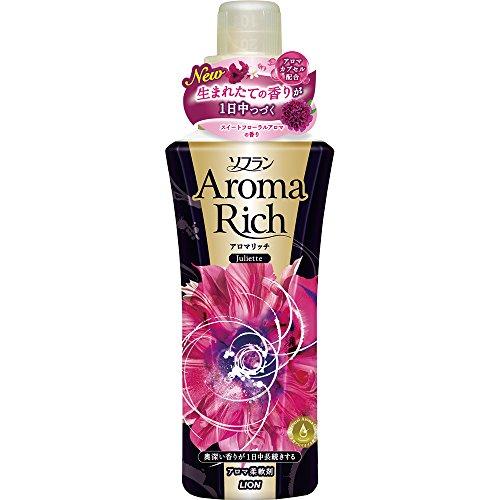 ソフランアロマリッチ 柔軟剤 ジュリエット(スイートフローラルの香り) 本体 600mL