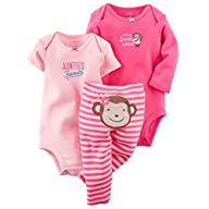 Carters Baby Girls 3-Piece Bodysuit &…