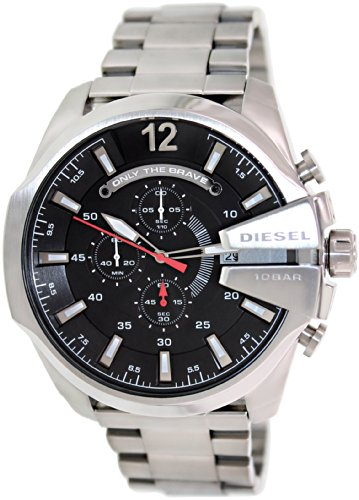 Diesel Men's DZ4308 Diesel Chief Series Analog Display Analog Quartz Silver Watch