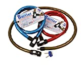 OXFORD MOTORCYCLE BARRIER ARMOURED CABLE LOCK 1.5M SMOKE