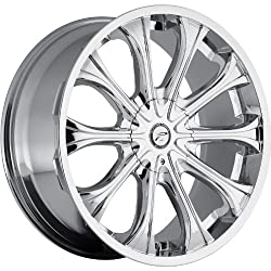 Platinum Mogul 24 Chrome Wheel / Rim 6×5.5 & 6×135 with a 25mm Offset and a 106 Hub Bore. Partnumber 408-2435C+25
