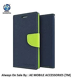 AE MERCURY GOOSPERY DIARY WALLET FLIP CASE COVER FOR ONE PLUS X BLUE GREEN