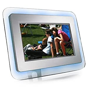 eMotion DF-EM7BL 7-Inch Ambient-Blue Digital Picture Frame