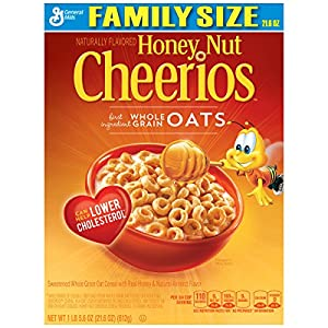 Honey Nut Cheerios Cereal, 21.6 Ounce (Pack of 2)
