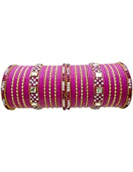 Bridal Chura Rani Lac Wedding Bangles Chuda By My Design(size-2.4)