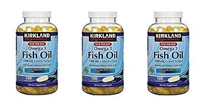 Kirkland Fish Oil 684 mg Omega-3 - 3 Bottles, 180 Softgels Each