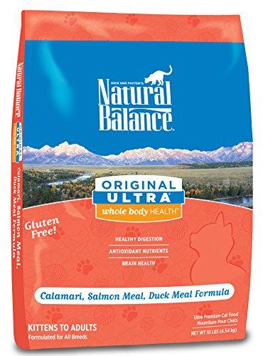 Natural Balance Original Ultra Whole Body Health Calamari, Salmon Meal, Duck Meal Dry Cat Formula