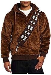 Ya-cos Star Wars Chewie Chewbacca Fur Casual Jacket Costume