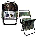 bulk buys OC243 Foldable Chair with Compartments, Black/Brown/Green/Beige
