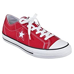 Womens Converse® One Star® Oxfords - Red